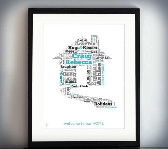 Typographic House Prints