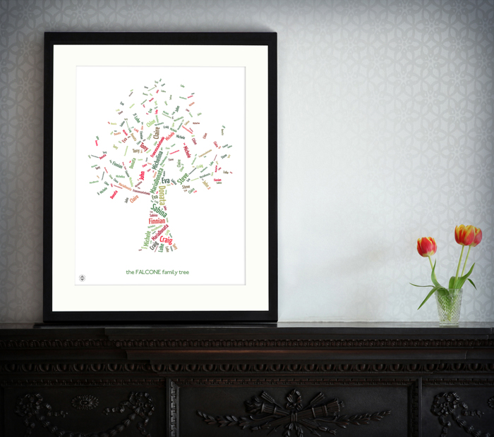 Personailsed Family Tree Print