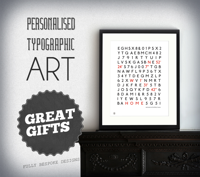 Personalised Font Prints