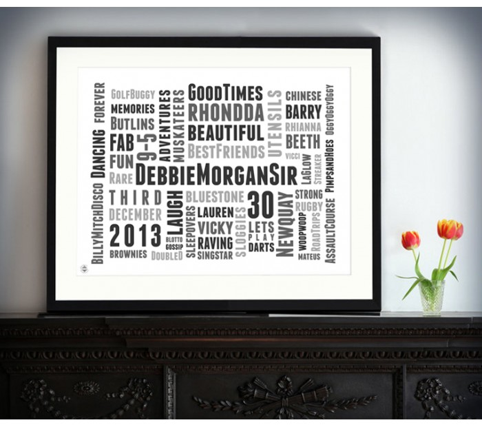 Typographic Art Prints