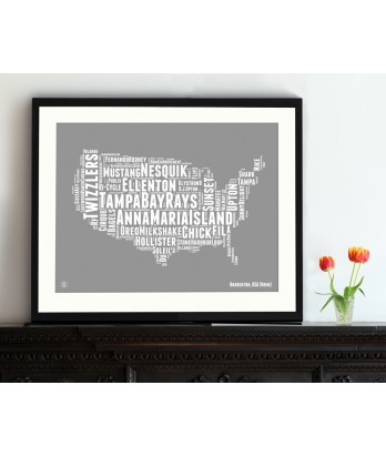 Personalised USA Map