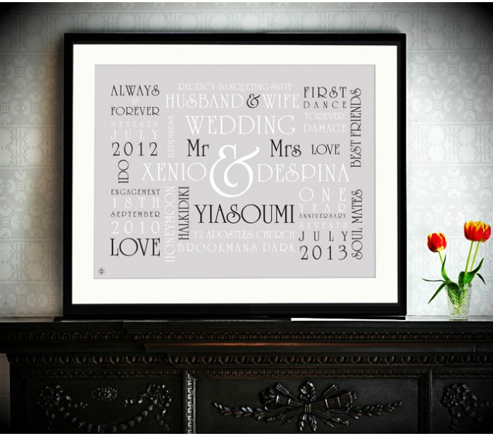 Wedding Word Art Prints