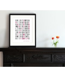 Word Search Print - Personalised