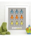 Boys Robot Poster - Personalised