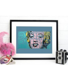 Marilyn Monroe Typographic Art