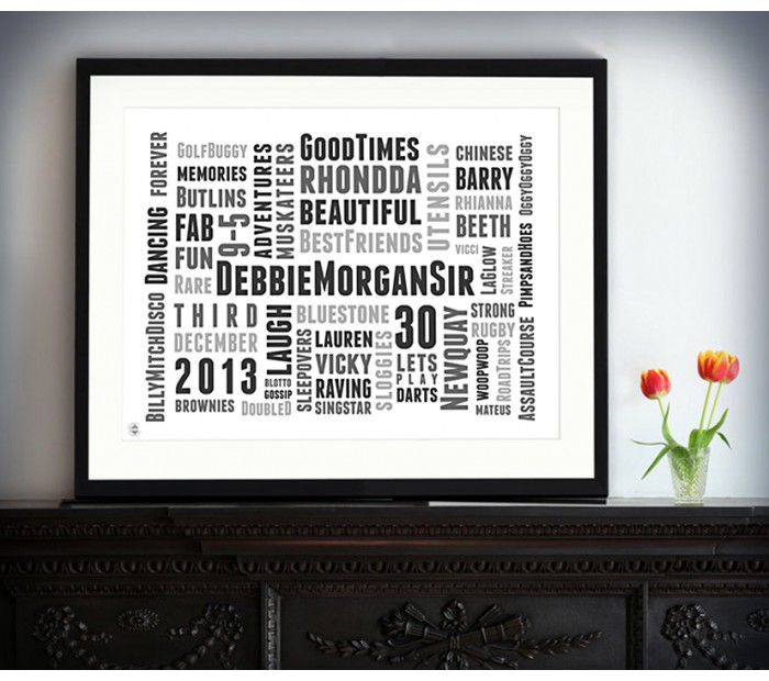 Wedding Typographic Art